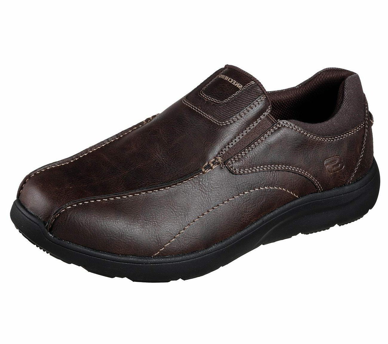 65328 Brown Skechers shoes Men Memory Foam Dress Casual Comf