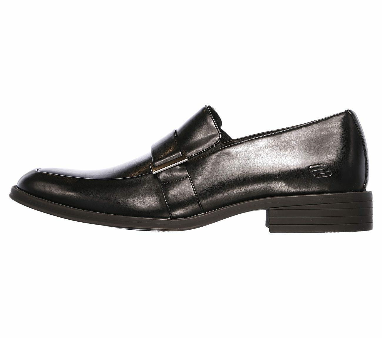 65541 Skechers Men Soft Leather Loafer