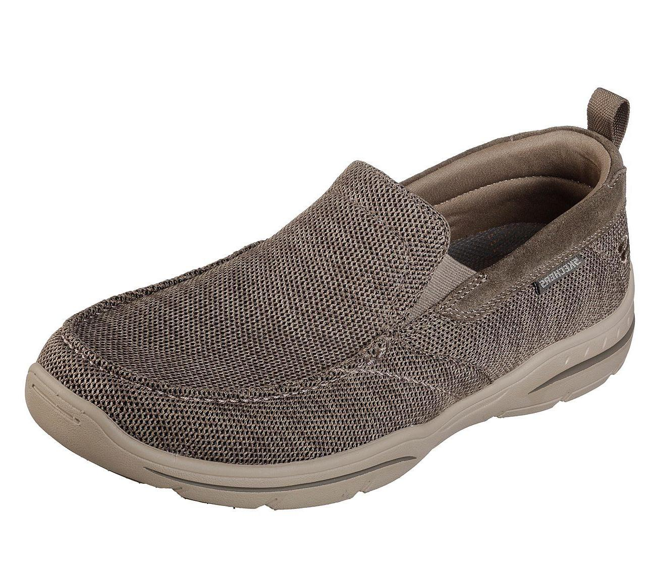 65626 taupe shoe men memory foam dress