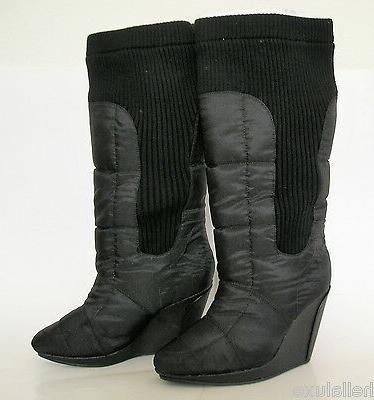 RARE~Adidas SLVR RIB WEDGE BOOTS KNEE HI Winter Fashion Dres