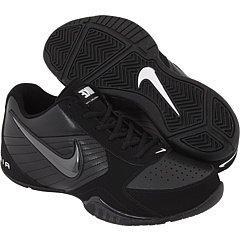 Nike Mens Air Baseline Low Basketball Shoes-Black/Black-Whit