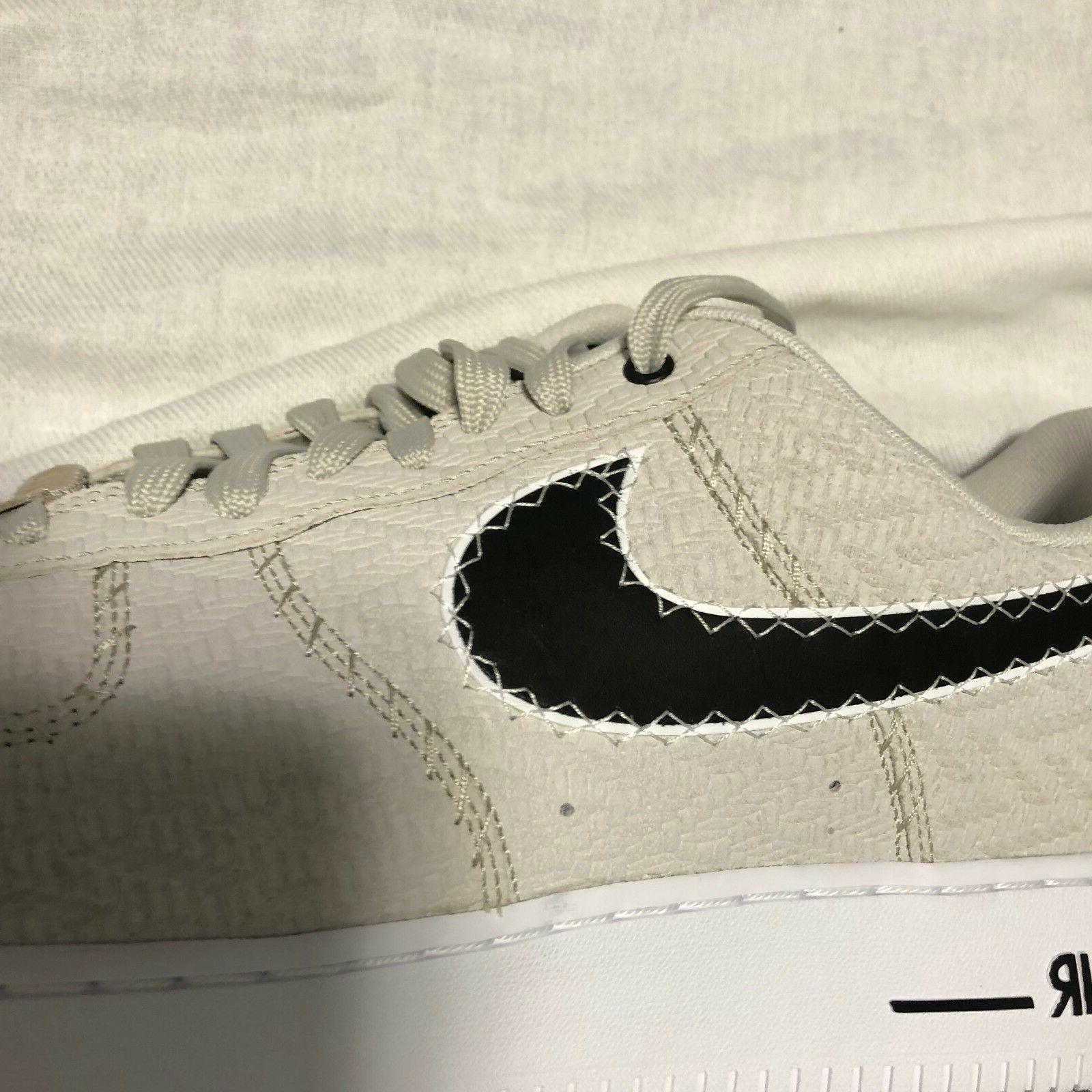 Nike Force 1 '07 N7 Light Black White Size TOP