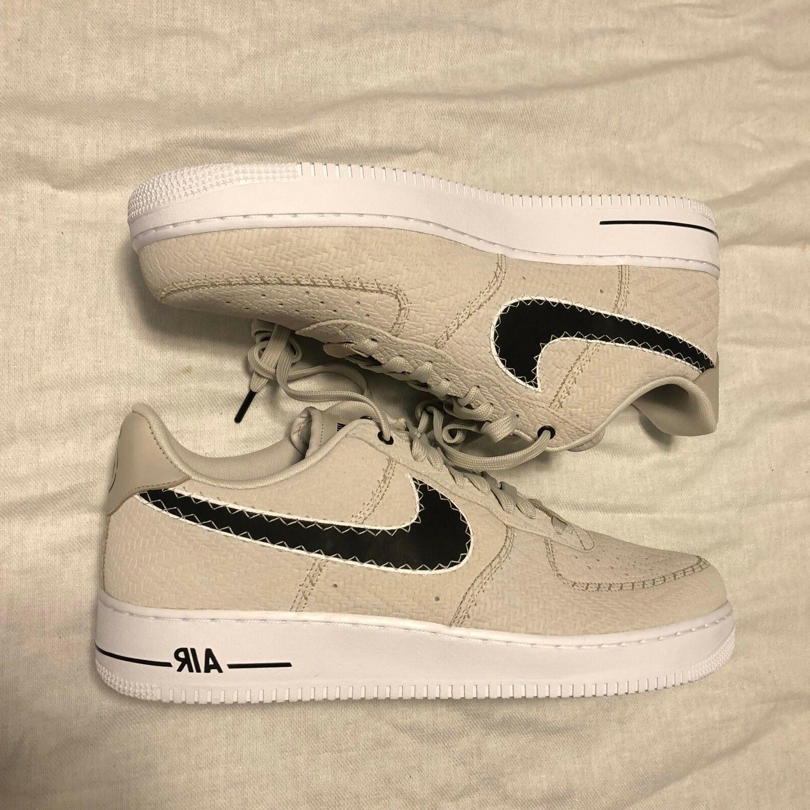 Nike Air Force 1 '07 N7 Light Bone Black White AO2369 Size BOX TOP