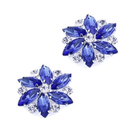 AJ Dress Accessories Rhinestones Crystal Shoe Clips Pcs