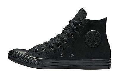 Converse All Star Chuck Taylor Shoes All Black Canvas Hi Top