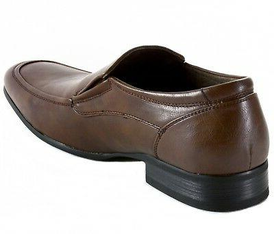 AlpineSwiss Lucerne Mens Dress Shoes Leather Lined Formal Loafers