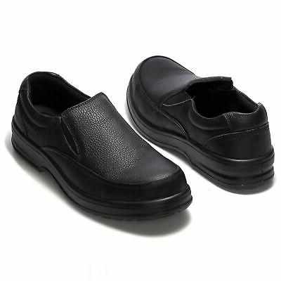 Alpine Work Shoes Real Leather Slip-On Loafers