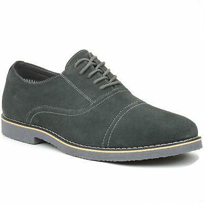 ashton mens dress shoes genuine suede lace