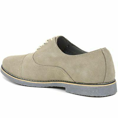 Alpine Swiss Aston Lace Up Suede Cap Dress Shoes