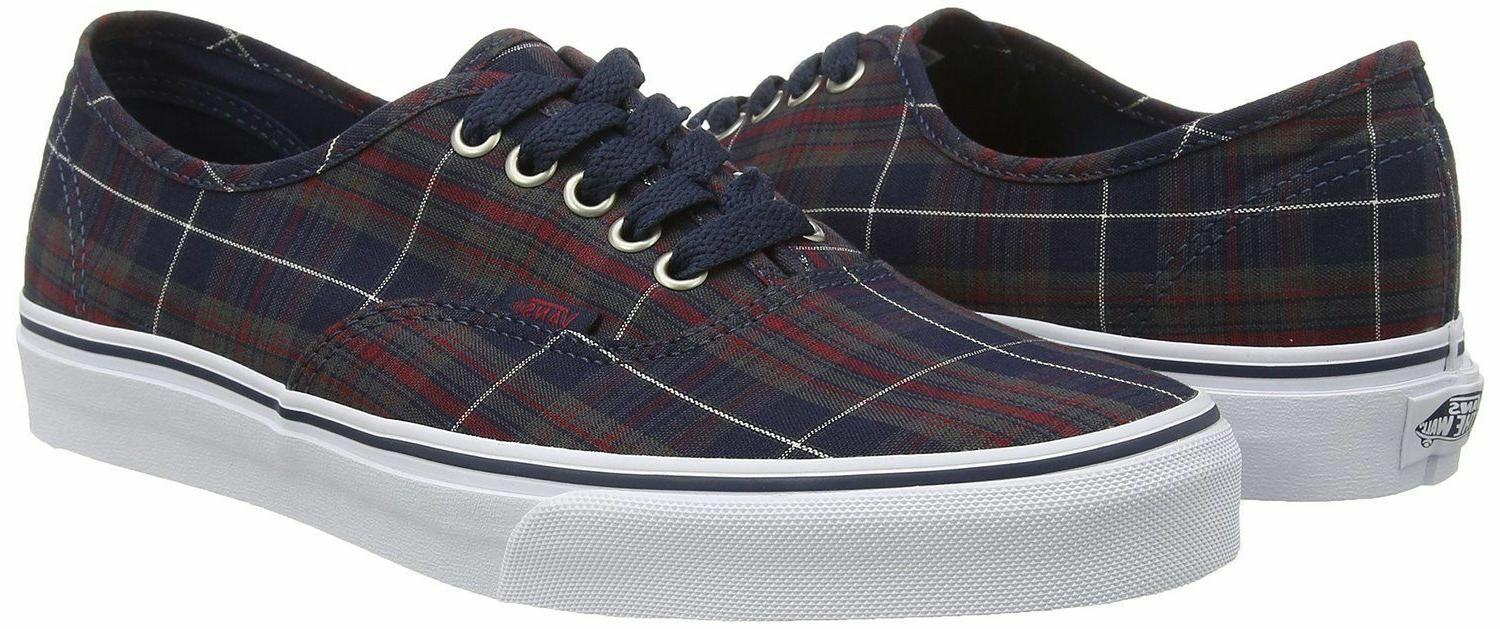 Vans Unisex Authentic Plaid Sneakers
