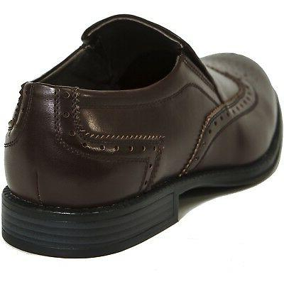 Alpine Swiss Wing Dress Brogue Medallion On Loafers