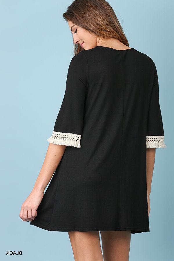Umgee Black Detail Dress
