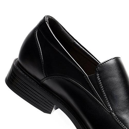 Men's Black Slip-On Loafer Classic Leader Dress Shoes 9.5