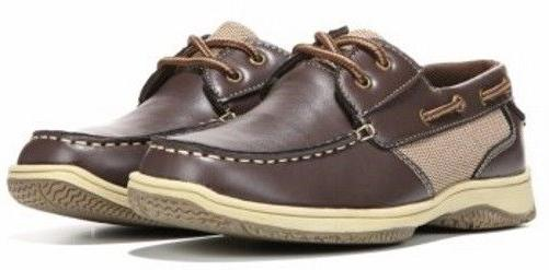 Deer Stags Boys Little Kid Jay Dark Brown Boat Shoes Dress M