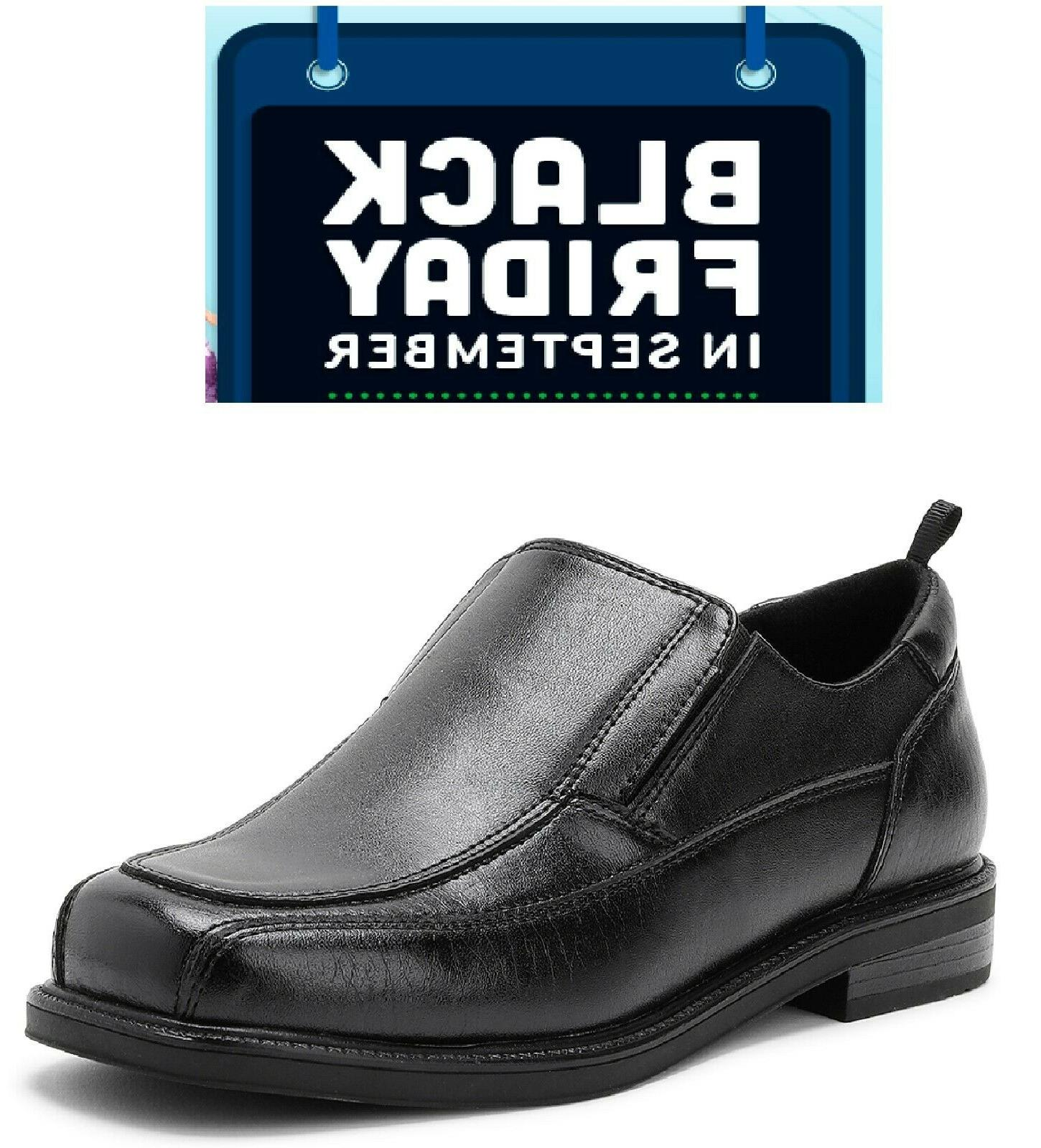 boys slip on dress shoe black flexible