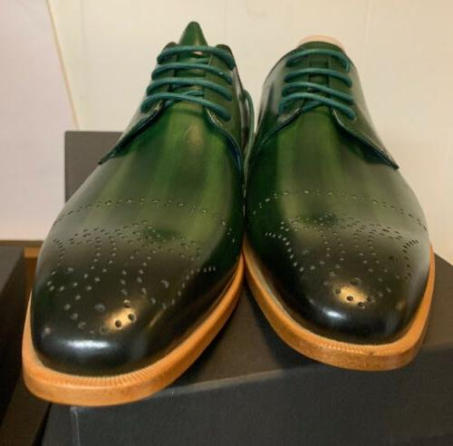 BRAND -Steven Leather Dress -ALPINE GREEN