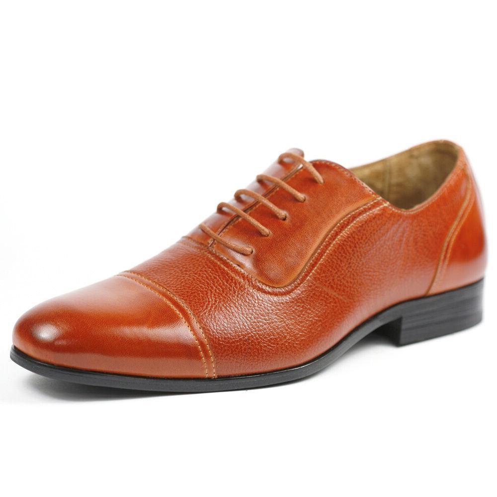 Ferro Aldo Brown Lace up Cap Toe Oxford Dress Shoes MFA-1933