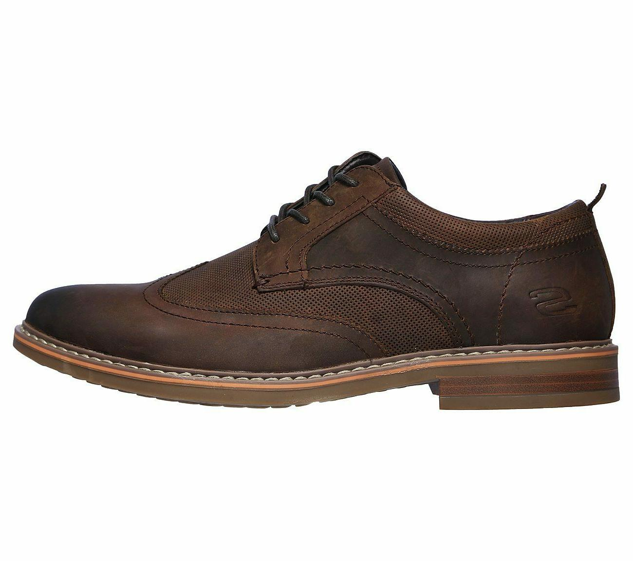 Skechers Brown Memory wing Dress Comfort Leather