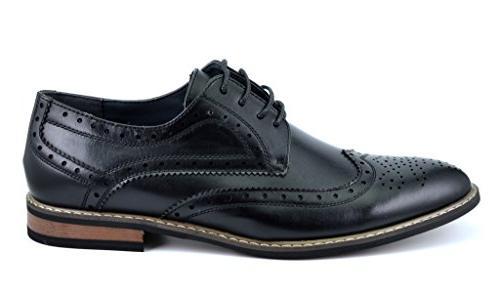 Bruno HOMME PRINCE Men's Classic Oxford Shoes,PRINCE-3-BLACK,8.5 D US