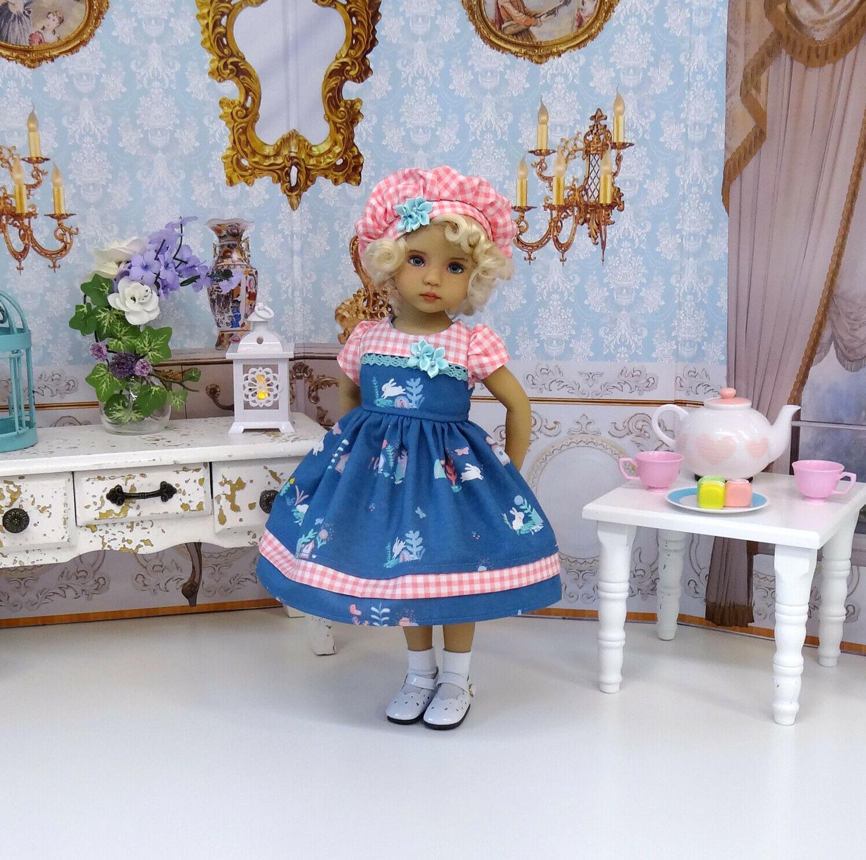 Bunny - hat, shoes for Effner Little Darling Doll