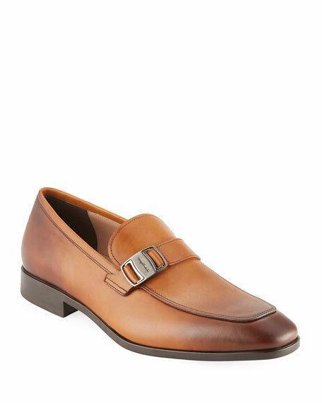 Salvatore Ferragamo Buckle Shoes Brown