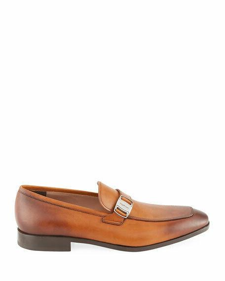 Salvatore Burnished Buckle Loafers Shoes