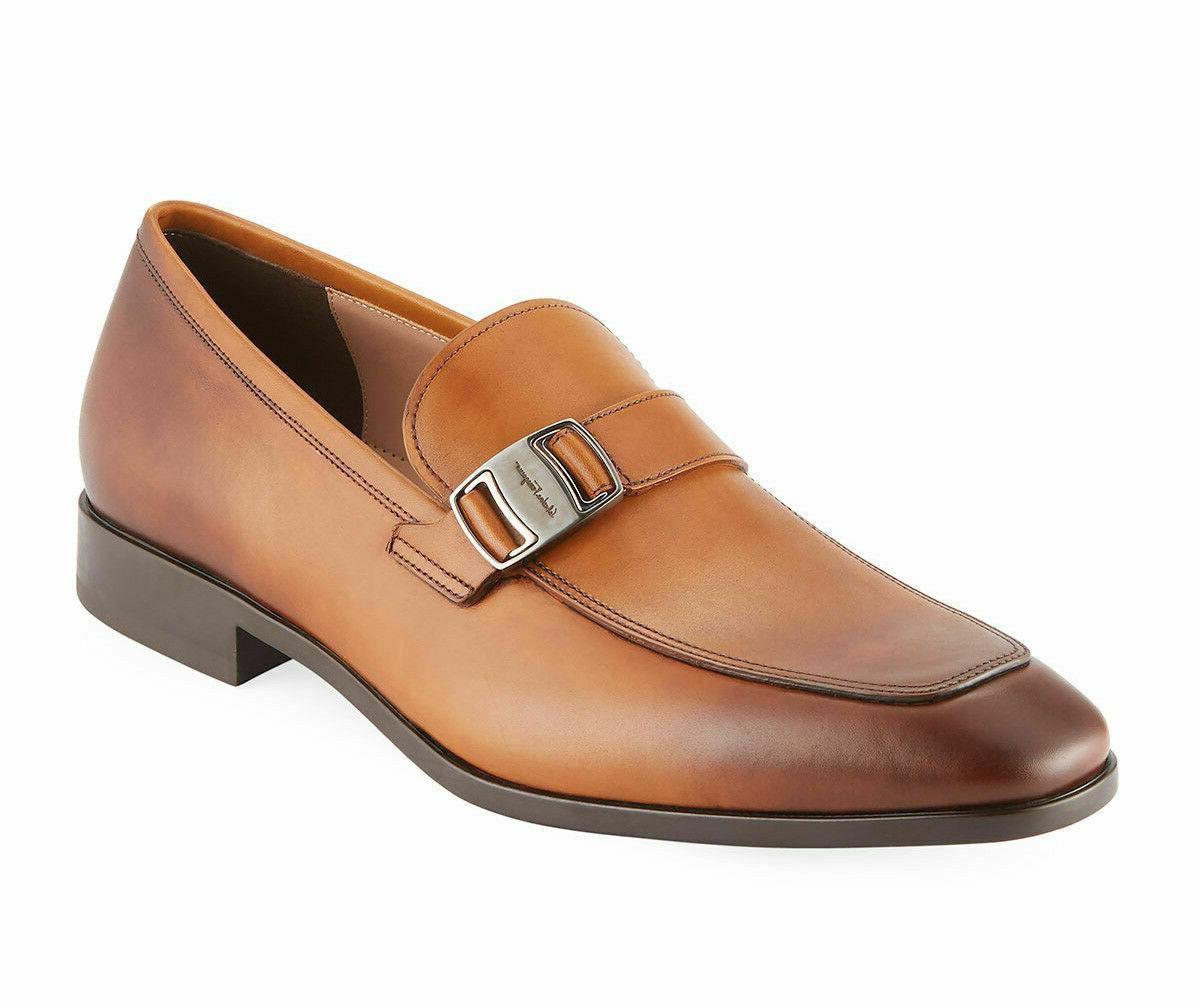 burnished vara buckle benson loafers dress shoes