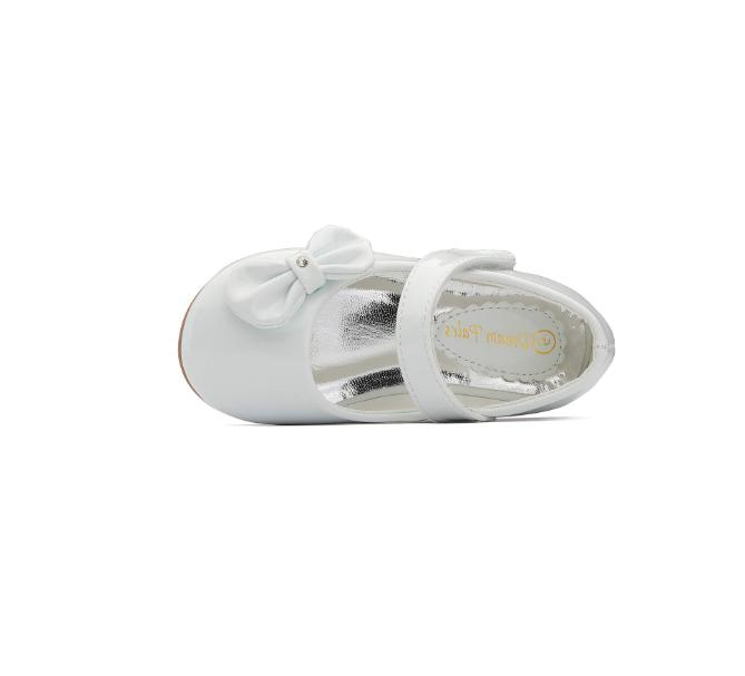 Dream Toetos Toddler White Patent Leather Dress Shoes