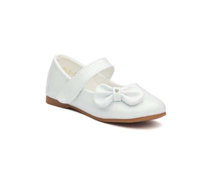 Dream Pairs Toetos Toddler White Leather Shoes