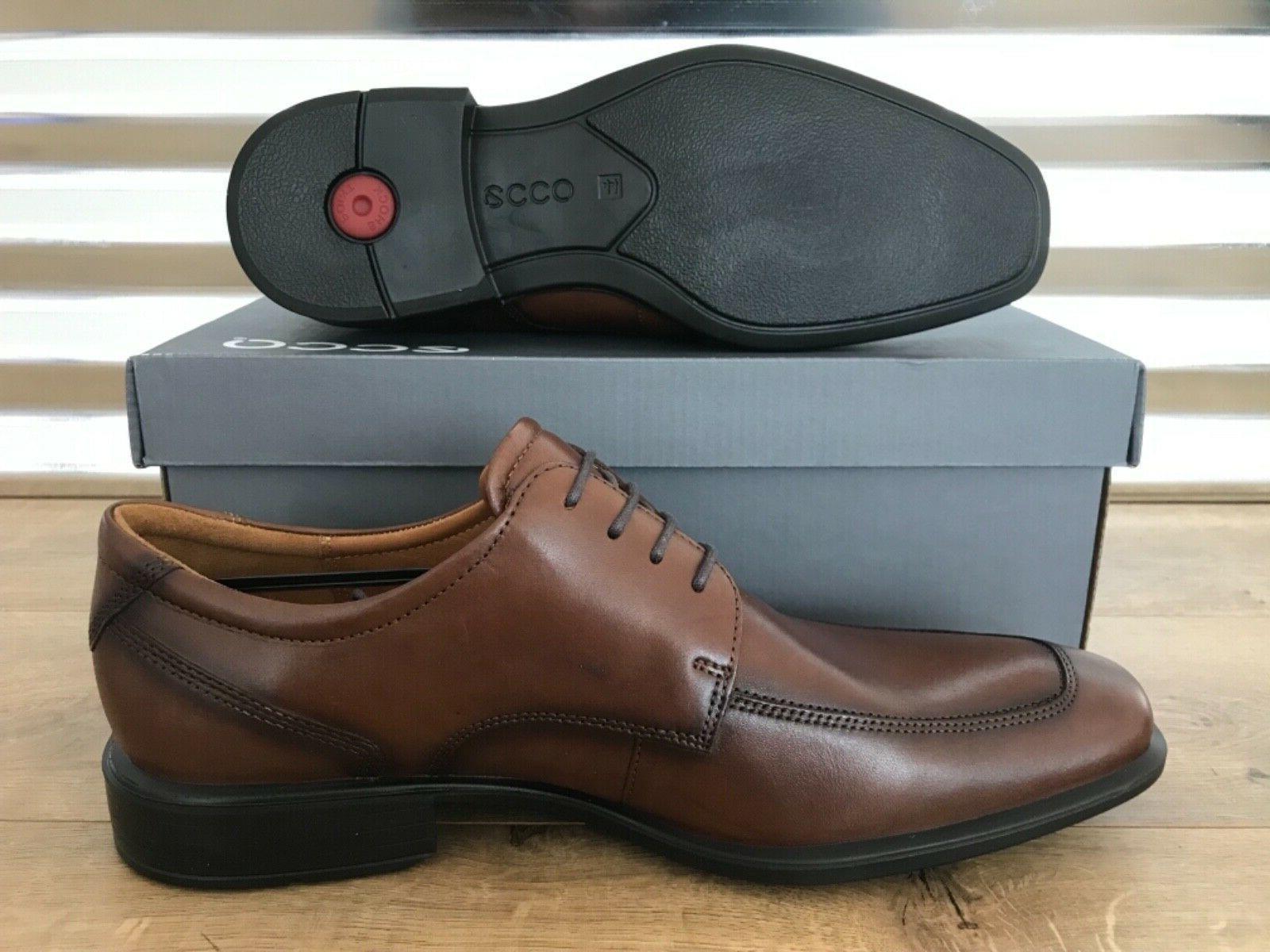ECCO Apron Toe Leather Brown Black