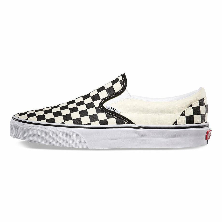 Vans CHECKERBOARD SLIP-ON BLACK/OFF WHITE CHECK  Canvas Clas