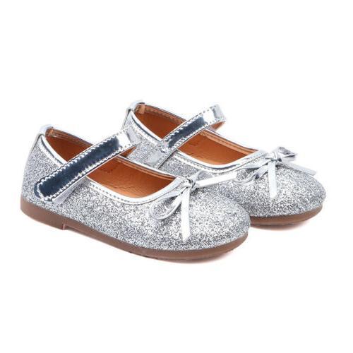 Girls Toddler Princess Shoes Kids Dress Flats Wedding