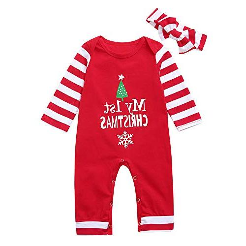 christmas jumpsuit first striped