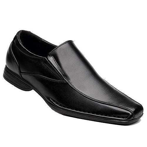 OUOUVALLEY Classic Formal On Leather Loafer Shoes OUOU-004 Black)