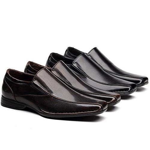 OUOUVALLEY Classic Slip On Lining Loafer Shoes OUOU-004 Black)