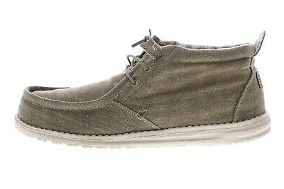 Hey 111651600 Mens Gray Canvas Casual Boat Shoes