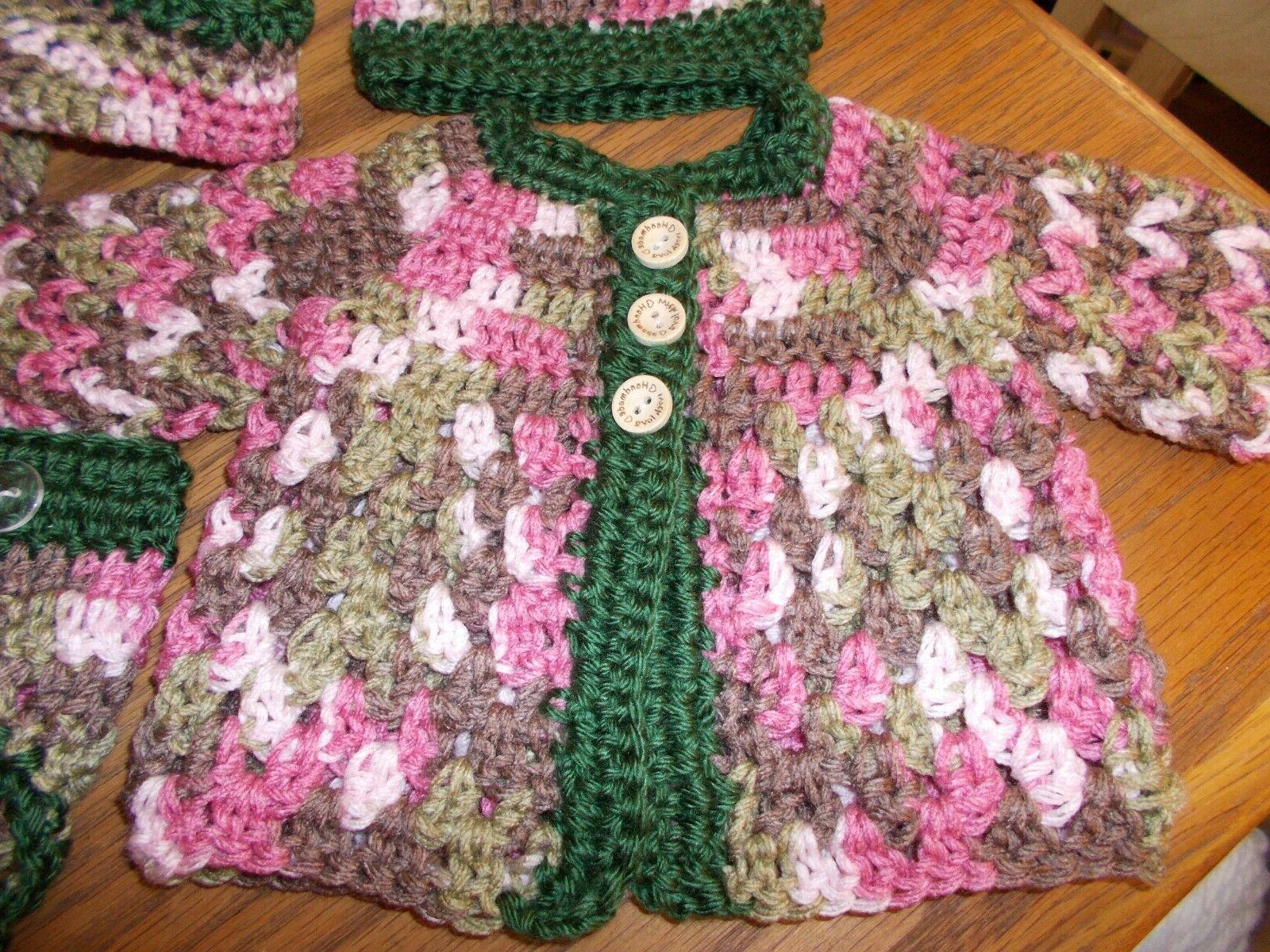 Handmade Crochet baby Shoes diaper Mountain Marty