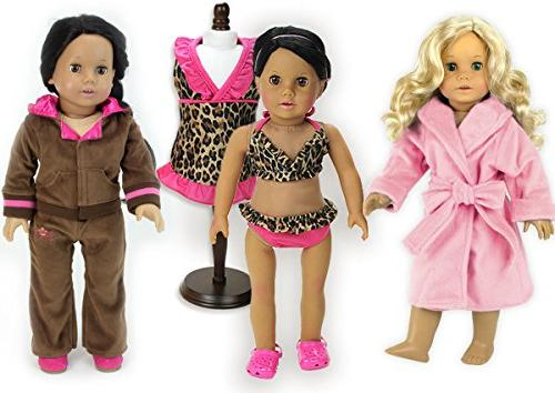 doll outfit soft pink brown