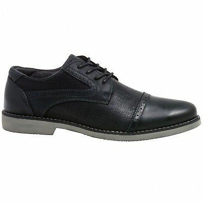 Double Diamond by Swiss Genuine Leather Cap Toe Shoes