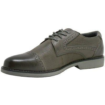 Double by Alpine Swiss Mens Leather Cap Shoes