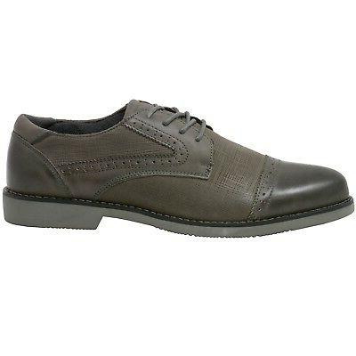 Double Swiss Leather Cap Toe Shoes