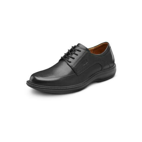 dr comfort men s classic black leather