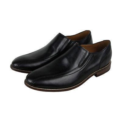 ensboro step mens black leather casual dress