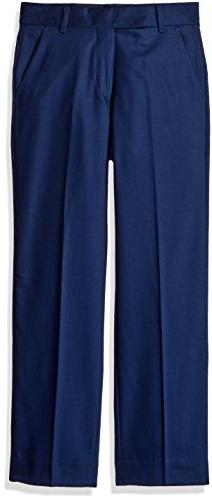 Calvin Klein Boys' Flat Front Dress Pant, Infinite Blue, 10