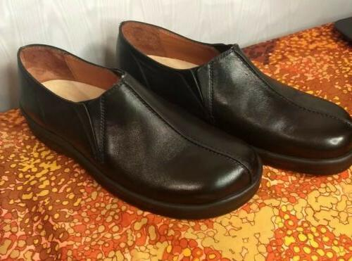 Footprints By New Black Leather Loafers Dress Mens 8