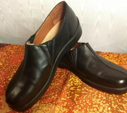footprints by new black leather loafers oxford