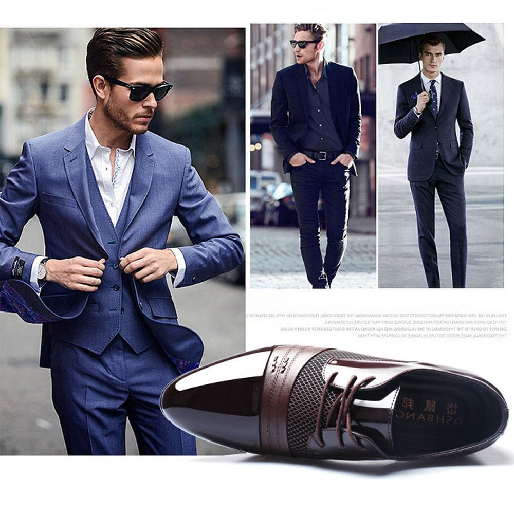 New Men Leather Oxford Dress Shoes Casual Fashion Size6-10
