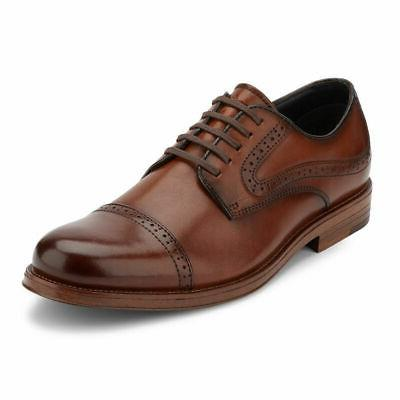 G.H. Bass & Mens Tinton Genuine Leather Dress Cap Toe Oxford