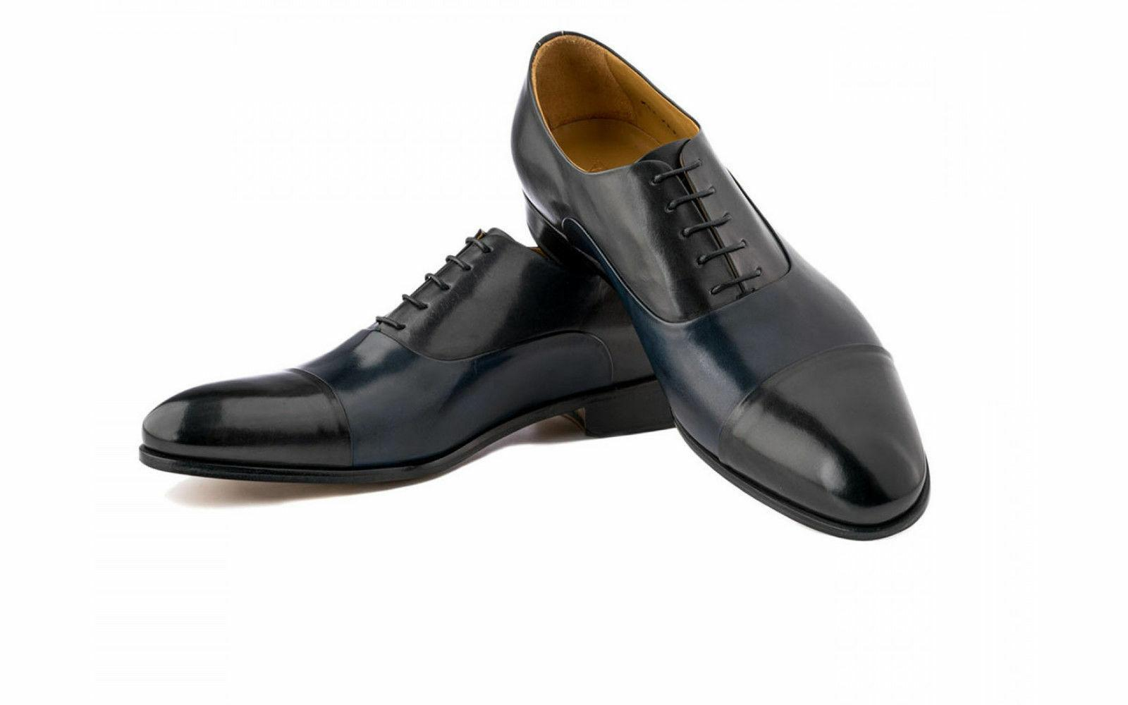 Genuine Leather Dress Shoes Handmade Oxfords Style Casual Fo