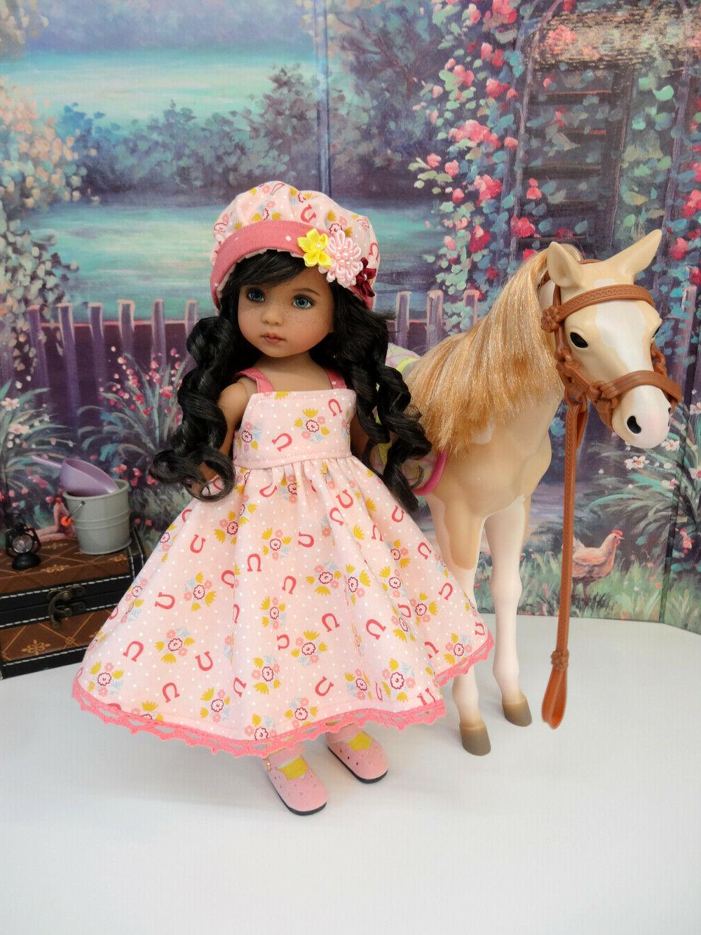 Giddy dress, hat, tights & for Darling Doll